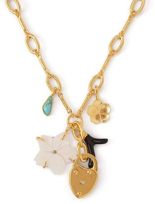 Lizzie Fortunato Fiamma Charm Gold Plated Necklace - Womens - Gold
