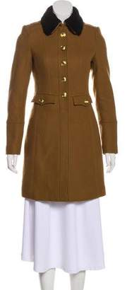 Burberry Shearling-Trimmed Short Coat w/ Tags
