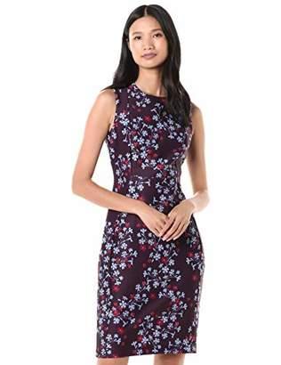 Calvin Klein Women's Sleeveless Printed Princess Seamed Sheath Dress