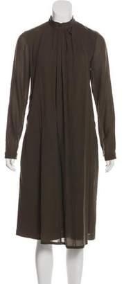 Etro Draped Wool Dress