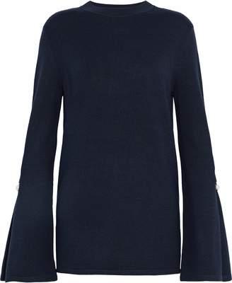 Mother of Pearl フェイクパール装飾付き ストレッチニット セーター