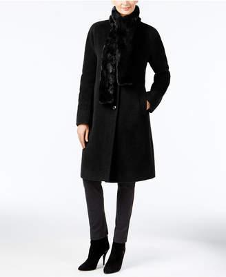 Jones New York Walker Coat with Faux-Fur Scarf $400 thestylecure.com