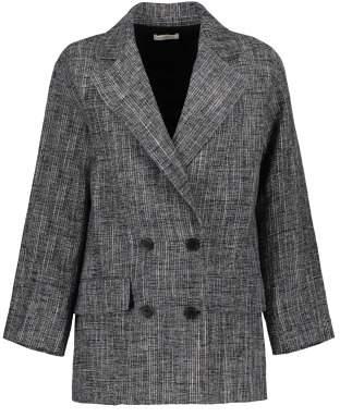 Masscob Sale - Checked Linen Blazer