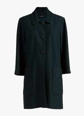St. John Herringbone Knit Coat