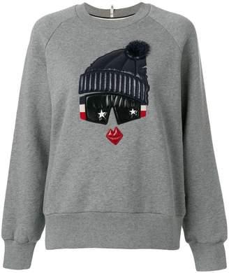 Moncler padded detail sweatshirt