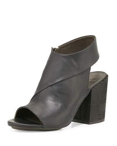 Coclico Dar Leather Chunky-Heel Sandal, Black