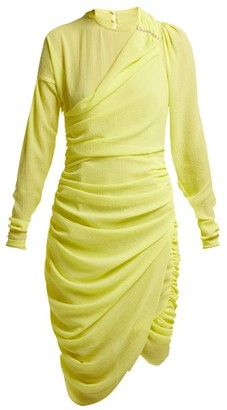 Preen by Thornton Bregazzi Alex Crinkled Georgette Ruched Midi Dress - Womens - Yellow