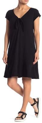 Velvet Tie Front Knit Dress