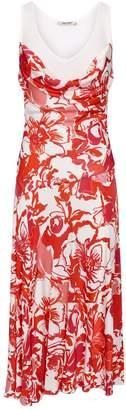 Roberto Cavalli Contrast Floral Dress