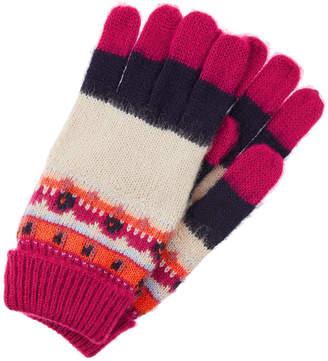 Monsoon Bibi Bright Fair Isle Knit Gloves