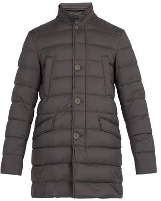 Herno Legend Quilted Down Coat - Mens - Grey
