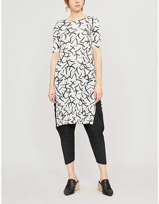 Pleats Please Issey Miyake Pleated printed midi dress