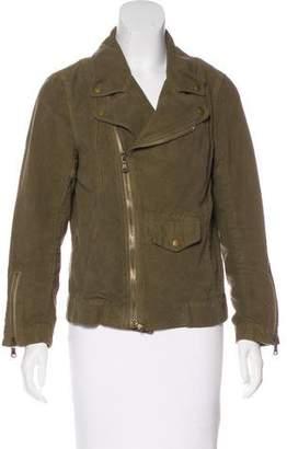 Nili Lotan Coated Biker Jacket