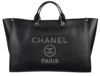 Chanel 2018 Large Studded Deauville Tote