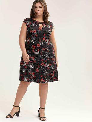 49c3fcd4229b Printed Swing Dress with Keyhole - In Every Story
