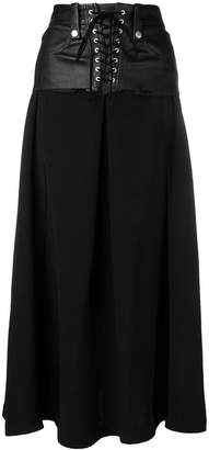 Unravel Project lace up skirt