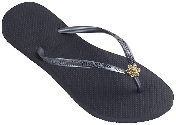 Havaianas Slim Crystal Flower Sandals