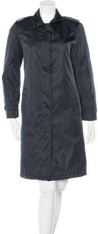 pradaPrada Notch-Lapel Knee-Length Coat
