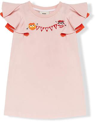 Fendi Bag Bugs ruffle sleeve T-shirt