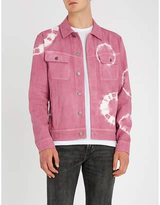 Stussy Bleach-dyed denim trucker jacket