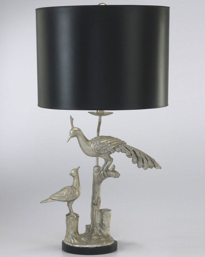 Horchow Peacock Table Lamp