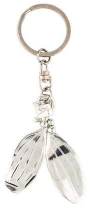 Michael Aram Sterling Silver Leaf Keychain