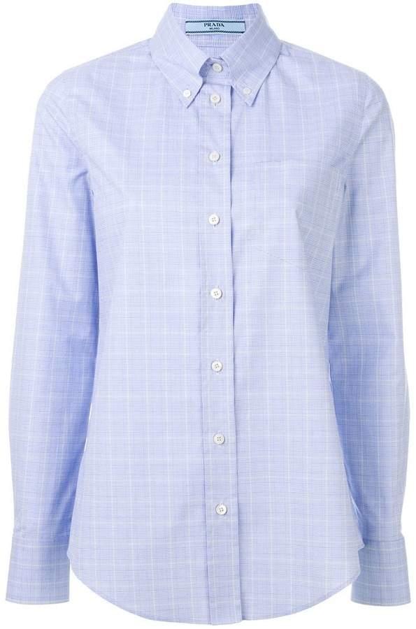 Prada checked button down shirt