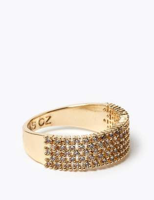 Marks and Spencer Gold Plated Sparkle Band Ring