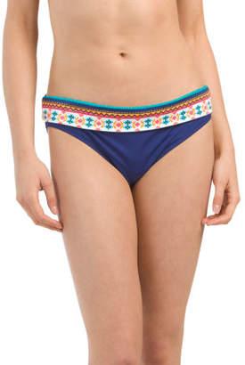 Foldover Mid Waist Bikini Bottom