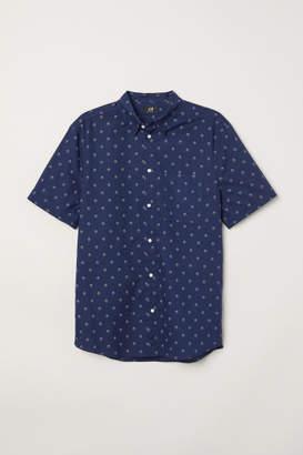 H&M Regular Fit Cotton Shirt - Blue