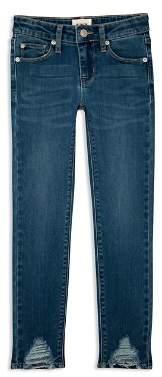 Hudson Girls' Asami Ankle Skinny Jeans in Blue - Little Kid