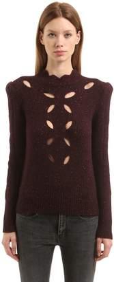 Isabel Marant Cutouts Alpaca Blend Knit Sweater