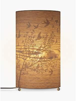 John lewis table lamps shopstyle uk at john lewis and partners john lewis partners flock birds wood veneer table lamp aloadofball Choice Image