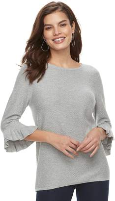 Elle Women's Ruffle Bell-Sleeve Sweater