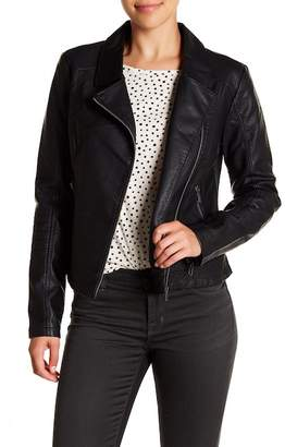 Cupcakes And Cashmere Sid Faux Leather Jacket