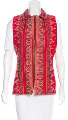 Biya Embroidered Silk Vest