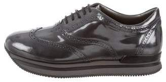 Hogan Patent Leather Low-Top Sneakers