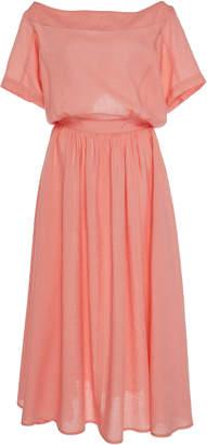 Tome Boat Neck Linen Dress