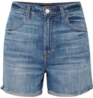 J Brand Joan Distressed Denim Shorts - Mid denim
