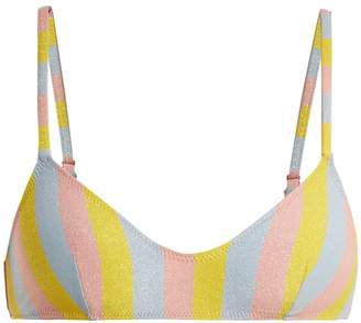Solid & Striped The Rachel striped bandeau bikini top