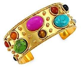 Sylvia Toledano Women's Byzantyne 22K Goldplated & Multi-Stone Cuff Bracelet