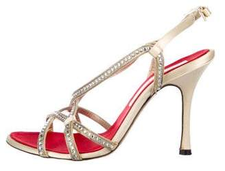 Christian Lacroix Embellished Satin Sandals