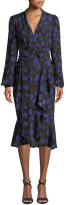 Diane von Furstenberg Carla Floral-Print Long-Sleeve Wrap Dress