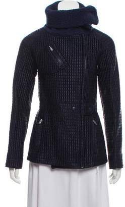 Miu Miu Faux Shearling-Accented Quilted Jacket