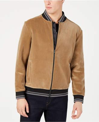 Kenneth Cole New York Men Velour Bomber Jacket