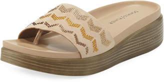 Donald J Pliner Fiji Suede Slide Sandals