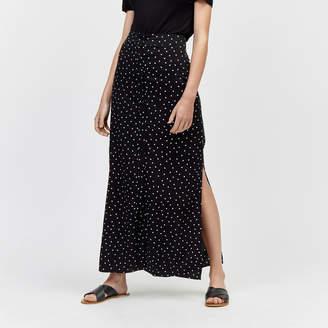Warehouse Spot Button Through Maxi Skirt