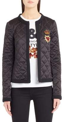 Dolce & Gabbana Sacred Heart Quilted Jacket