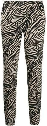Cambio zebra print trousers