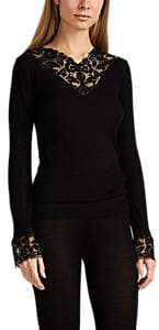 Zimmerli Women's Winter Moments Wool-Silk T-Shirt - Dark Gray